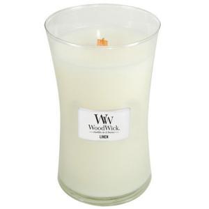 WoodWick 1-Piece Linen Large Jar Candle White by Woodwick happysmile777