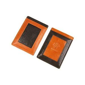 [アルベロ] 定期入れ 4361 本革 リヨン オレンジ×チョコ AL-4361-40 レディース|happysmile777