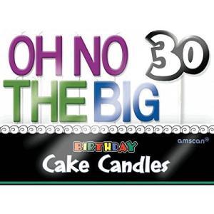 The Party連続30th Birthdayパーティー  Oh No Big 30?  Moldedつまようじキャンドルセット、11、マルチパック happysmile777
