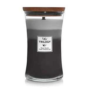 Woodwick Candle Warm Woods Trilogy Large Jar|happysmile777