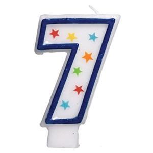STAR STUDDEDフラットMolded数7?Celebration Candle、ホワイト、3.5? ワックス happysmile777