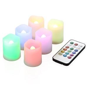 WY 12色LEDミニキャンドル 6個セット リモコン付き 4h/8h消灯タイマー ボタン電池使用 WY-LEDSET003 happysmile777