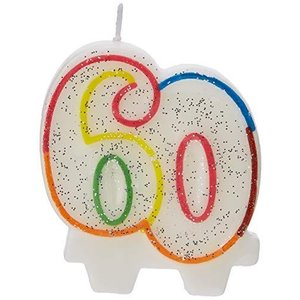 Amscan 9900813 7.5cm Milestone 60th Birthday Candle|happysmile777