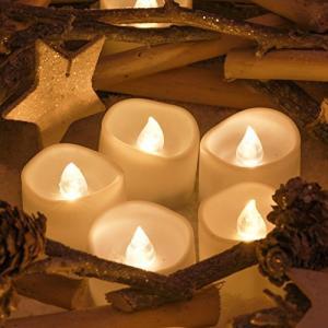 Kohree LED キャンドルライト 無香料 揺らぐ炎 24個セット ティーライトゆらゆら揺れる 電池式 蝋燭 本物にそっくり バレンタインデー ク happysmile777