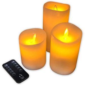 HONONARI LED キャンドル ライト S3 専用リモコン付 3点セット happysmile777