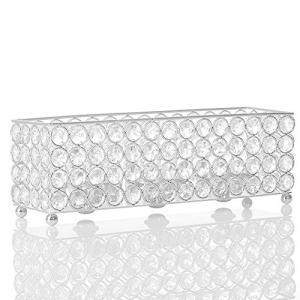 VINCIGANT クリスタル キャンドルホルダー3本 立て 長方形の燭台 結婚式バーテーブルの装飾コーヒーテーブルデコレーション工芸品キャンドルスタ happysmile777