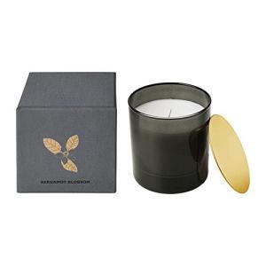 IKEA/イケア NJUTNING:香り付きキャンドル グラス入り 花開くベルガモット/グレー (803.505.32)|happysmile777