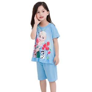 JR アナと雪の女王 親子 パジャマ 子供 パジャマ 女の子 2点セット 3-5歳 上下 ガールズ ワンピースパジャマ ルームウェア ナイトウェア happysmile777