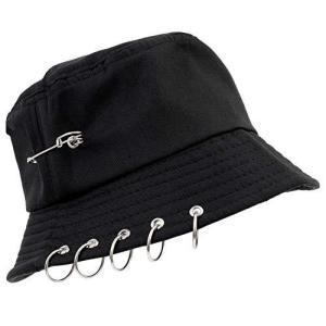 [セイヤインターナショナル] 帽子 韓国 デザイン リングバケットハット (黒) happysmile777