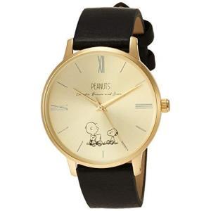 [フィールドワーク] 腕時計 フィールドワーク アナログ スヌーピー クラシック 革ベルト PNT001-2 ブラック happysmile777