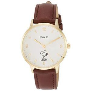 [フィールドワーク] 腕時計 フィールドワーク アナログ スヌーピー 革ベルト PNT003-2 ブラウン happysmile777