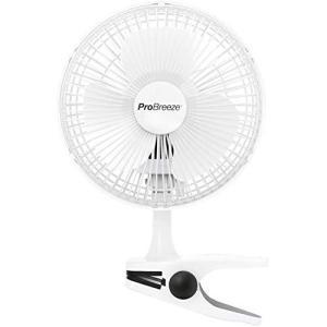 Pro Breeze 小型扇風機 クリップ式 卓上 360度風向調整 風量2段階切替 電源コンセントタイプ 超静性 どこでも取り付け可能 メーカー1年 happysmile777