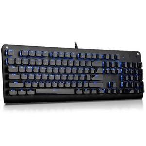 E-YOOSO K600 メカニカルゲームキーボード 104キー レインボー LED バックライトキーボード (クリスタル)|happysmile777