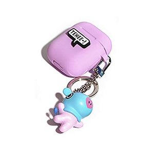 LINE FRIENDS BTS 防弾少年団 BT21 New Airpods Case エアーポッドケース (B) 可愛いキーリング付き! MANG|happysmile777