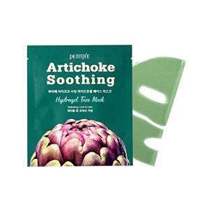 Petitfee Artichoke Soothing Hydrogel Face Mask 5 Sheets 1 12 oz 32 g Each happysmile777