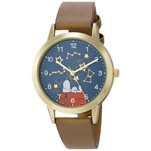 [フィールドワーク] フィールドワーク 腕時計 アナログ スヌーピー イラストモチーフウォッチ 革ベルト PNT011-2 レディース グレー happysmile777