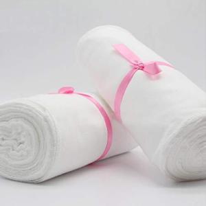 ダブルガーゼ 無地 巾20cm×長さ12m(1200cm) オーガニック コットン生地 ソフト 綿100% 繰り返し使える 裁縫 手作り製作 大人用 happysmile777