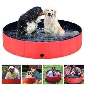 ペットバスプール Onlygreen 犬 プール ペットシャワー用プール 子供用プール 犬、猫用 子どもの水遊びプール 折り畳み 持ち運び便利 PVC|happysmile777