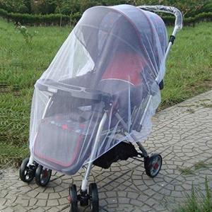 WZY 林3 PCS 150センチメートルベビーベビーカーモスキート昆虫盾ネット安全乳児の保護メッシュベビーカーアクセサリー蚊帳(ホワイト) (Col|happysmile777