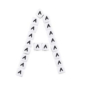 Mamimami Home アルファベット ビーズ 12mm「A」10個 シリコンビーズ スクエア 英字 diy 質材 素材 材料 ハンドメイド 手作 happysmile777