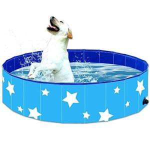 ペット用プール Speedbyte 子供用プール折り畳め式 ポータブルバスグッズ 犬 猫用 子どもの水遊びプールにも PVC製ル ペット高級入浴用品|happysmile777