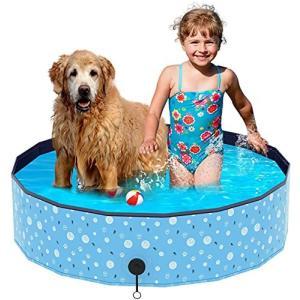 Achort プール ペット用プール 子供用プール キッズプール キッズボールプール ペット風呂 猫用 犬用 バスタブ 小型犬 中型犬 大型犬 お風呂|happysmile777
