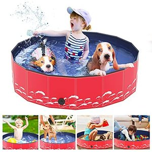 Achort プール 犬用 子供用プール ペット用プール 小型犬/中型犬/大型犬 PVC材 安全無毒 キッズプール キッズボールプール ペット風呂 猫|happysmile777
