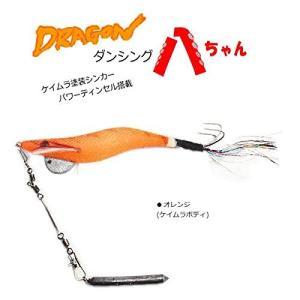 マルシン漁具 ダンシング八ちゃん 3.5号 (タコ釣り タコ掛 タコエギ) ケイムラオールオレンジ|happysmilehiro