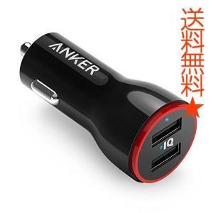 Anker PowerDrive 2 (24W/4.8A 2ポート USBカーチャージャー) iPhone、Android、IQOS対応 (ブラック)|happysmiles