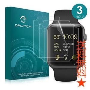 Apple Watch 42mmフィルム Dalinch Apple Watchフィルム 弧状のエッジ加工 全面保護【3枚入り】液晶保護フィルム|happysmiles