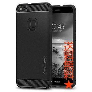 【Spigen】 Huawei P10 liteケース[ TPU 米軍MIL規格取得落下衝撃吸収 ]ラギッド・アーマー(P10 lite, ブラック)|happysmiles