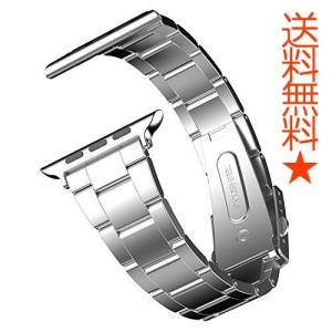 JEDirect Apple Watch 用バンド Series 1 2 3対応 ステンレス留め金製 42mm シルバー|happysmiles