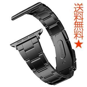 JEDirect Apple Watch 用バンド Series 1 2 3対応 ステンレス留め金製 42mm ブラック|happysmiles