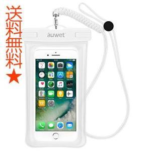 防水ケース Auwet【指紋認証対応】iPhone X/8/7/6/Plus 水面上にフローティング 海水浴 潜水 お風呂 水泳 砂浜 水遊びなど|happysmiles