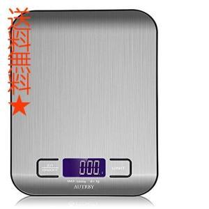 デジタルキッチンスケール 精密皿はかり 多機能クッキングスケール 超高精度電子はかり計量範1gから5000g 風袋引き機能 保存しやすい (電池含む)|happysmiles
