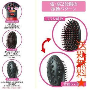 ハック 2段階の振動で心地良い刺激で頭皮をマッサージ エレクトリックヘアブラシ AXL-135|happysmiles