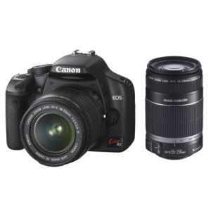 Canon デジタル一眼レフカメラ EOS Kiss X2 ダブルズームキット KISSX2-WKI|happystorefujioka
