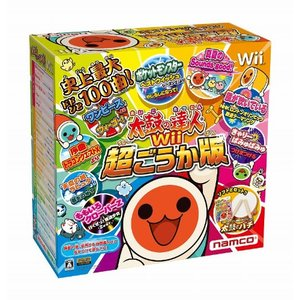 太鼓の達人Wii 超ごうか版 (専用太鼓コントローラ「太鼓とバチ」同梱版)|happystorefujioka