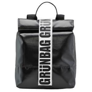 grunBAG Backpack Velcro Black グリュンバッグ バックパック ベルクロ ...