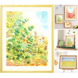 絵画 インテリア グリーン 絵 (grow/額入り-Mサイズ・ポエム付) 玄関に飾る絵 壁掛け リビング 部屋 アートポスター 北欧 癒し 植物 おしゃれな絵