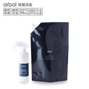 次亜塩素酸ボトルセットarbol アルボル 1800ml詰め替え用+スプレーボトル(空)セット 除菌...