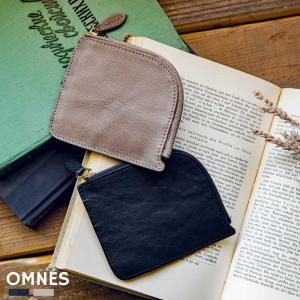 レディース メンズ 小さい財布 レザー OMNES 牛革ミニ財布 マルチ ジッパーコインケース