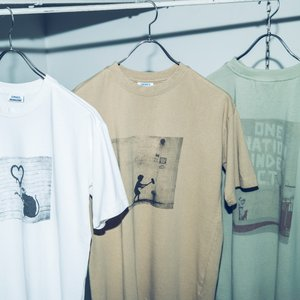 ユニセックス BRANDALISED×OMNES プリント半袖Tシャツ バンクシー Banksy  ...