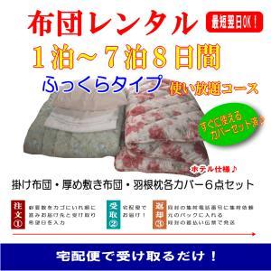 布団のレンタル ふっくらタイプ シングルサイズ 一週間+1日 使い放題 プラン|hapyy-singu