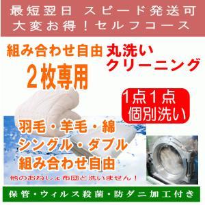 布団 クリーニング 組み合わせ自由  2枚専用セルフコース  保管無料 防ダニ加工 ふとん 丸洗い クリーニング  1点1点単品洗い ウィルス除菌消毒|hapyy-singu