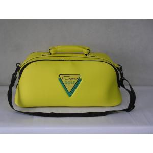 CARO(キャロ)ボストンバッグ ニューボクサー黄定価23000円。|harada-golf