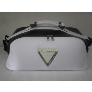 CARO(キャロ)ボストンバッグ ニュースタッフゴールデン白×黒定価30000円。|harada-golf