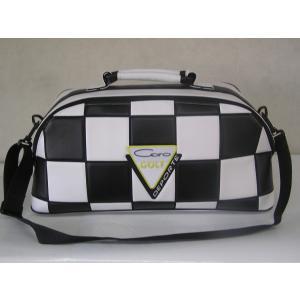 CARO(キャロ)ボストンバッグ ニュースタッフ ゴールデン チェッカー白×黒定価36000円。|harada-golf