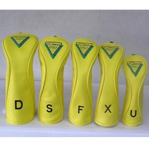 CARO(キャロ)ヘッドカバー ボクサーD/S/F/X/U 5本セット 黄定価17280円(税込み)。|harada-golf