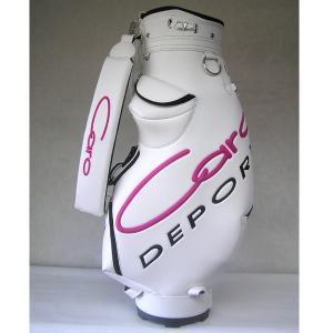CARO(キャロ)キャディバッグニューボクサーUSA白×ピンク定価73440円(税込み)。|harada-golf